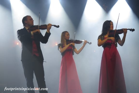 Three of the Hughes children and their violins - Hughes Brothers Christmas Show