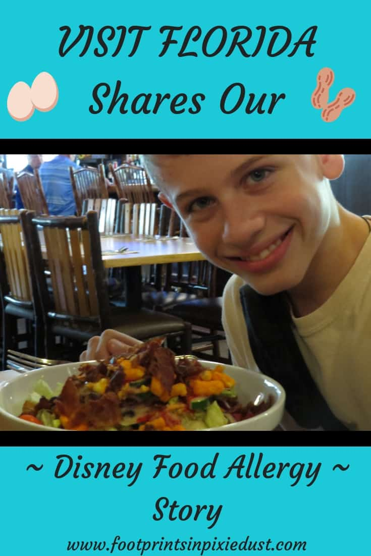 VISIT FLORIDA Shares Our Disney Food Allergy Story ~ #visitFL #foodallergies #foodallergytravel #foodallergiesatDisney #WDW #footprintsatDisney #eggallergy #peanutallergy #treenutallergy #carryepialways #talktoachef #disneychefsrock #lovemyson