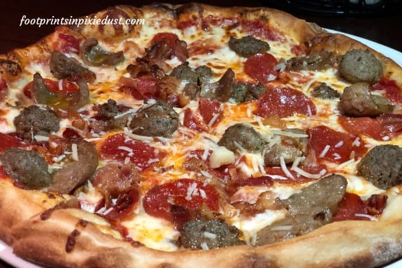 Meat Lovers Pizza at Splitsville Orlando
