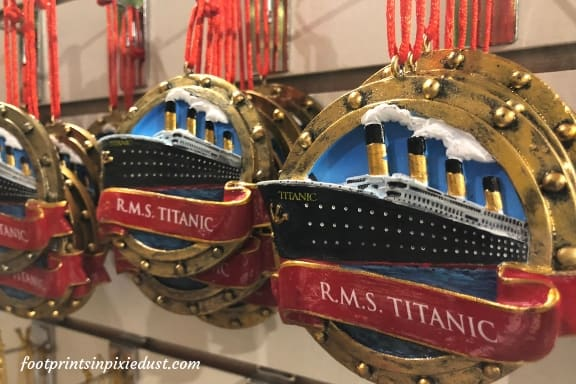 Ornaments from Titanic Museum Gift Shop