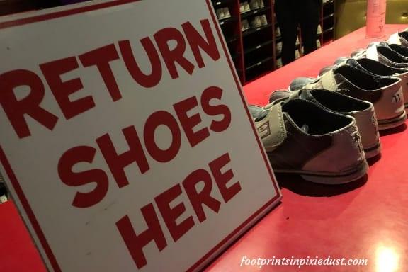 Return Shoes Here at Splitsville Orlando