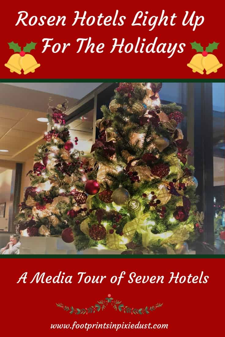 Rosen Hotels Light Up For the Holidays ~ #rosenhotels #rosenholidays #holidaynightoflights #christmas #decorations #mediatour #NHL #HappyHolidays