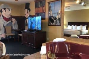 Sherlock Holmes room at Stone Castle Hotel