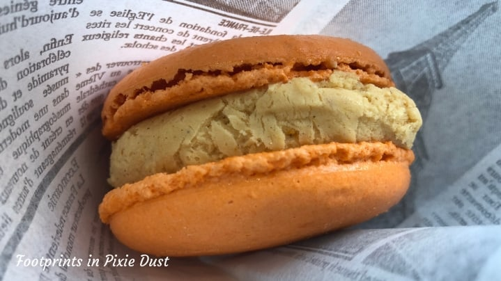 Dating Around World Showcase - seasonal macaron from L'artisan des Glace in France Pavilion