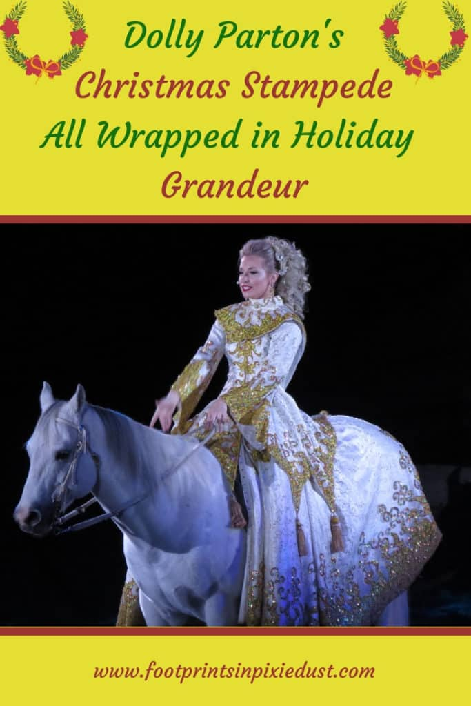 Dolly Parton's Christmas Stampede - #bloggingbranson #dollysstampede #footprintsinbranson #branson #dinnershow #dinnerattraction #travel #vacation #ozarkmountainchristmas #hosted