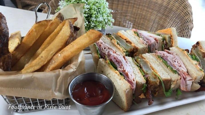 Echo Restaurant - allergy-safe Southern Club Sandwich