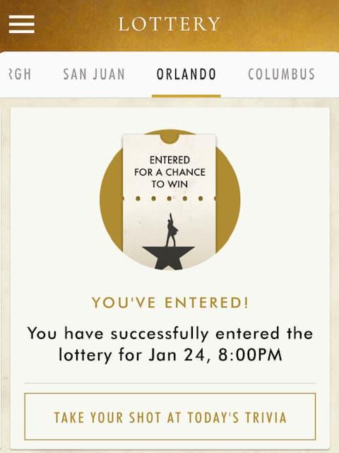Ham4Ham lottery entry photo
