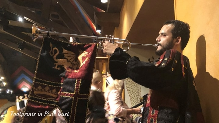 Medieval Times in Orlando - The trumpet call for dinner