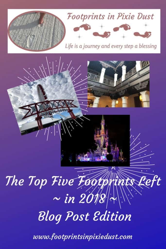 Top Five blog posts for 2018 ~ #footprintsinpixiedust #fpipd #blogposts #topfive #mnsshp #branson #bloggingbranson #ozarkmountainchristmas #dolphins #epcot #datingaroundworldshowcase #disneycouple #disneydate