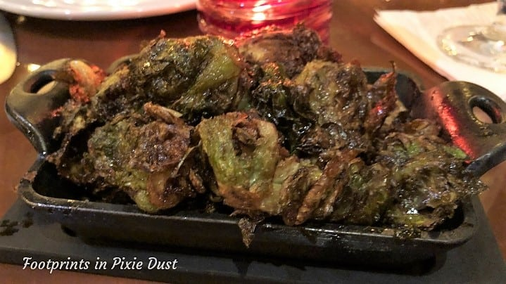 Canada Pavilion - Maple whiskey glazed brussel sprouts at Le Cellier