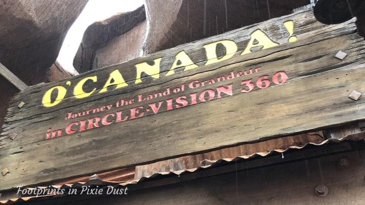 Canada Pavilion - O' Canada! signage
