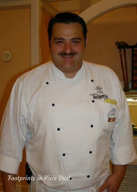 Chef George when he worked at Cape May Cafe at Disney's Beach Club Resort