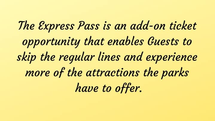 Explanation of Express Pass at Universal Orlando Resort theme parks