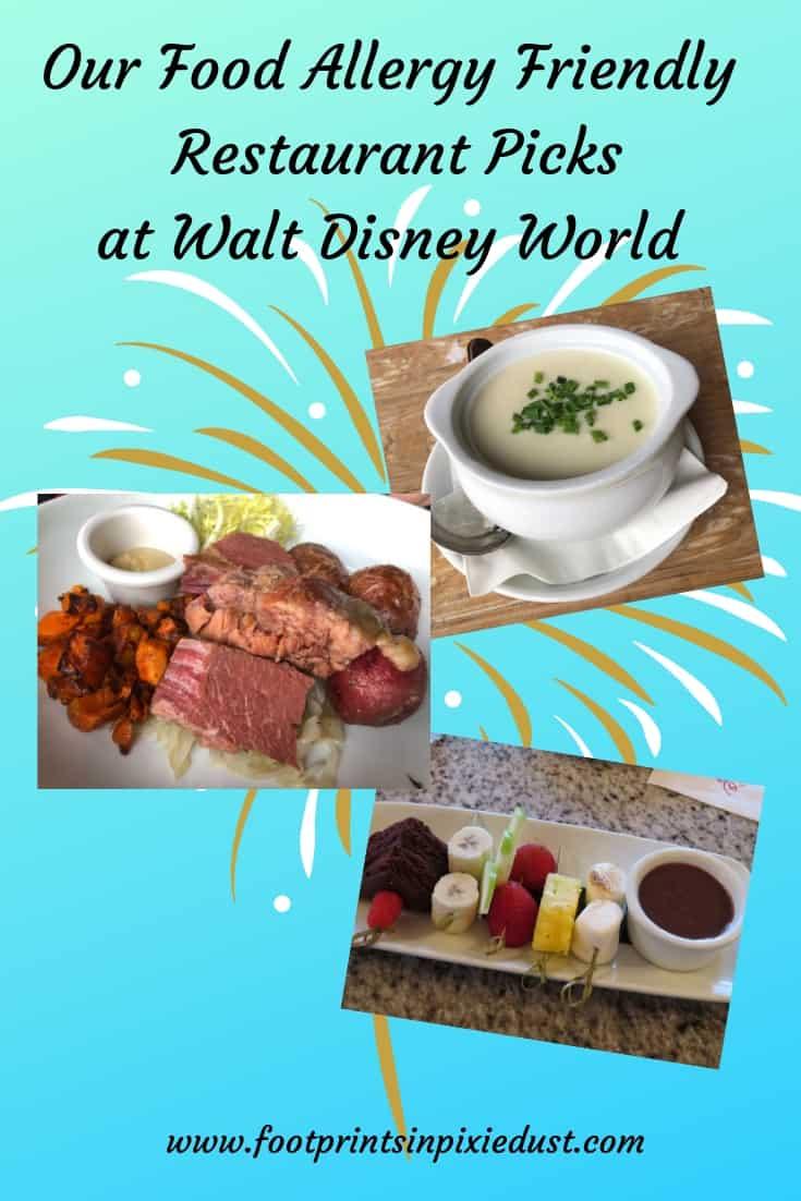 Our Favorite Food Allergy Friendly Walt Disney World Restaurants ~ #foodallergy #foodallergytravel #foodallergydining #waltdisneyworld #disneychefsrocks #foodallergyfriendly #travel #disneydining #foodpics
