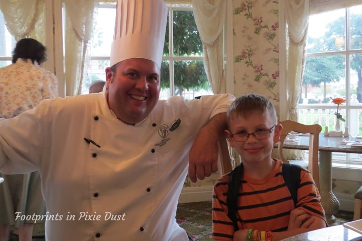 With the Disney Chef at Grand Floridian Cafe at Disney's Grand Floridian Resort & Spa