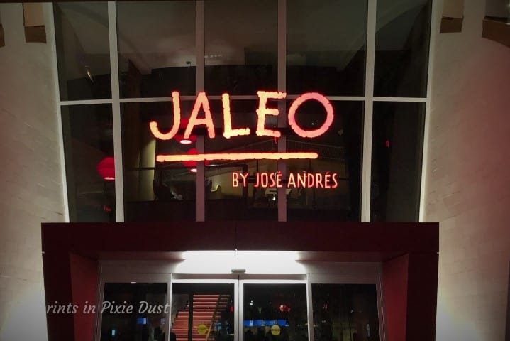Jaleo at Disney Springs at night