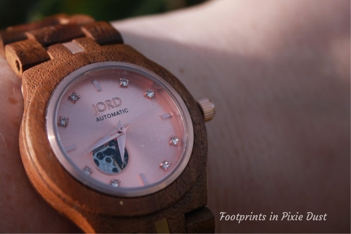 Jord Wood Watch - Cora Koa and Rose Gold