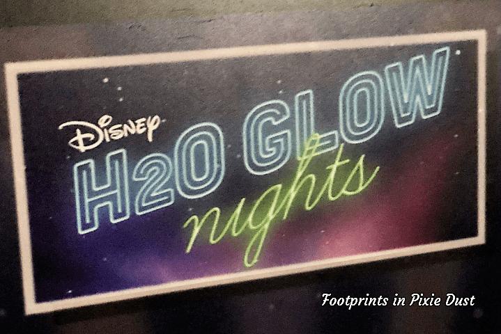 H2O Glow Nights Signage at Disney's Typhoon Lagoon