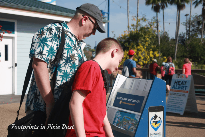 SeaWorld Orlando ~ Finding a park map