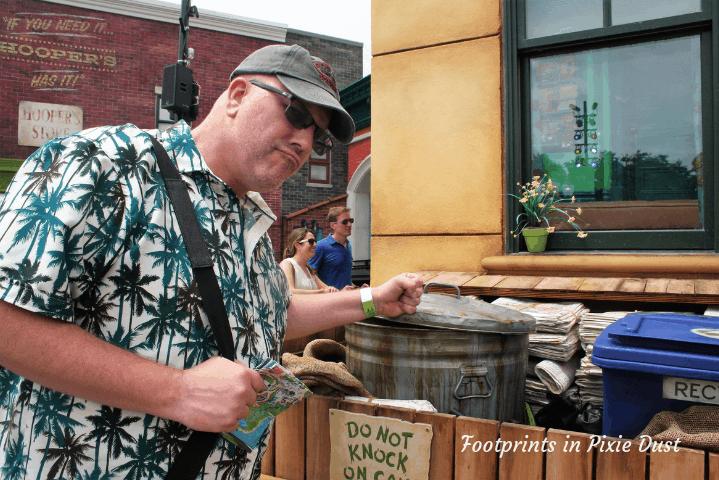 SeaWorld Orlando ~ Knocking on Oscar's Trash Can on Sesame Street