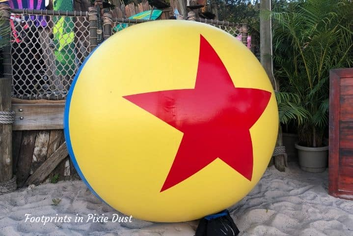 The Pixar ball ~ H2O Glow Nights at Disney's Typhoon Lagoon