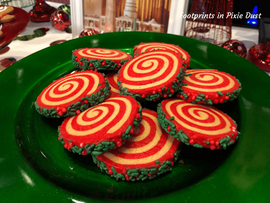 Disney Holidays - Christmas in July - Peppermint Pinwheel Cookie for Epcot Holiday Cookie Stroll 2019