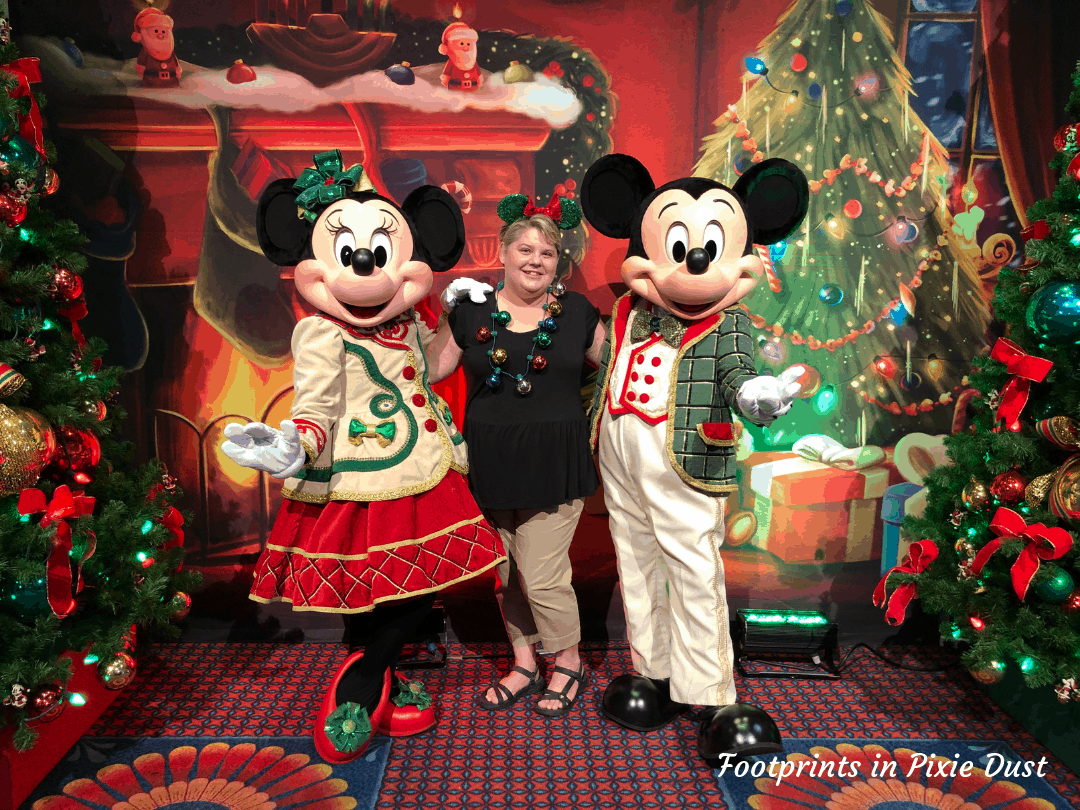 Disney Holidays - Christmas in July - Photo with Mickey and Minnie during event
