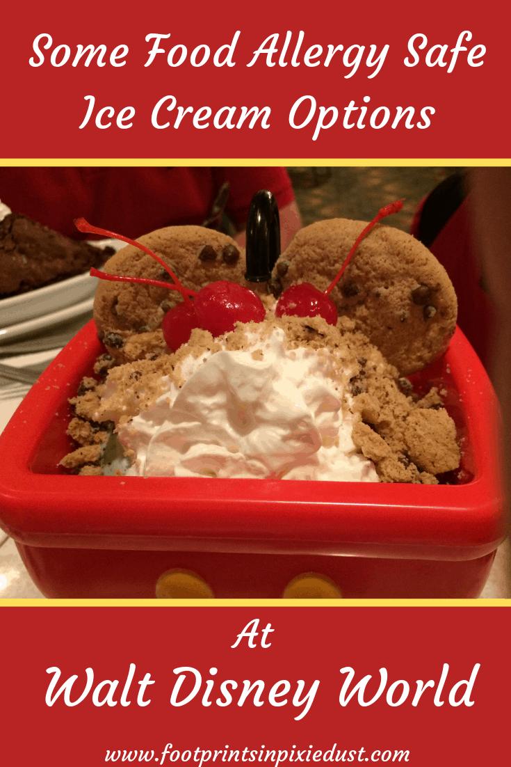 Food allergy friendly desserts at Walt Disney World ~ Mickey's kitchen sink at The Plaza Restaurant