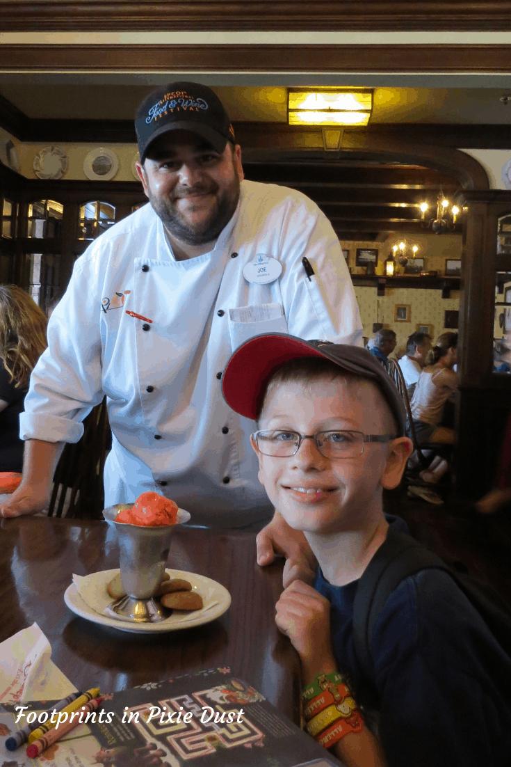 Food allergy friendly desserts at Walt Disney World - Rose and Crown