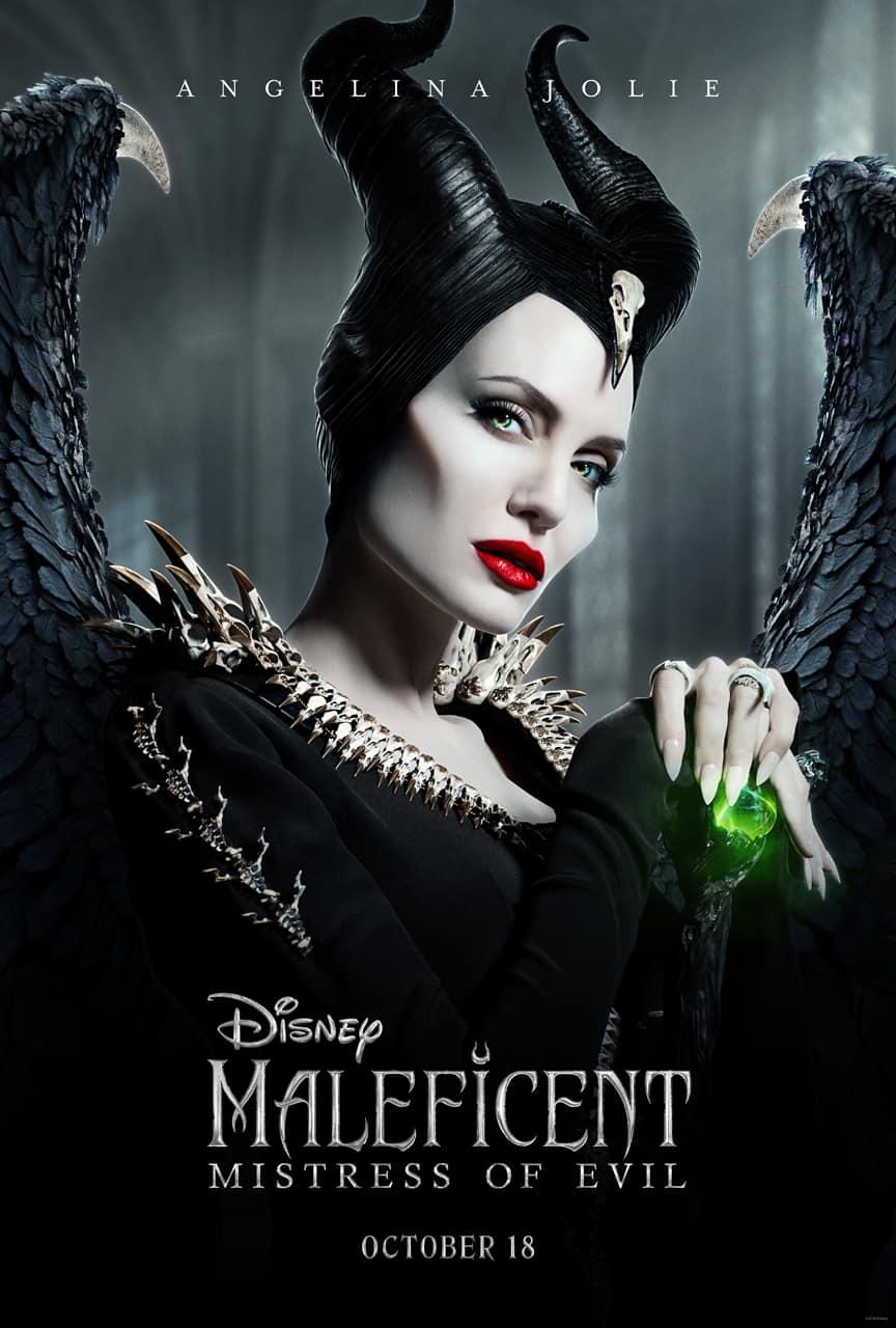 Angelina Jolie as Disney's MALEFICENT: MISTRESS OF EVIL.