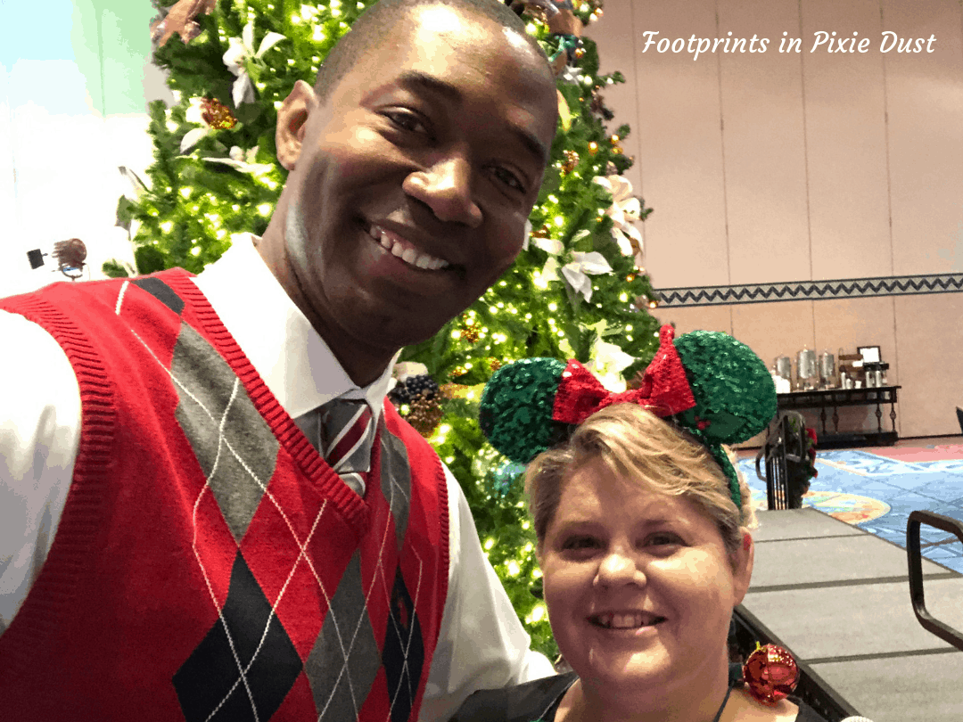 Disney Holidays - Christmas in July - Photo with Mark M. Daniel, our host for the Christmas in July event