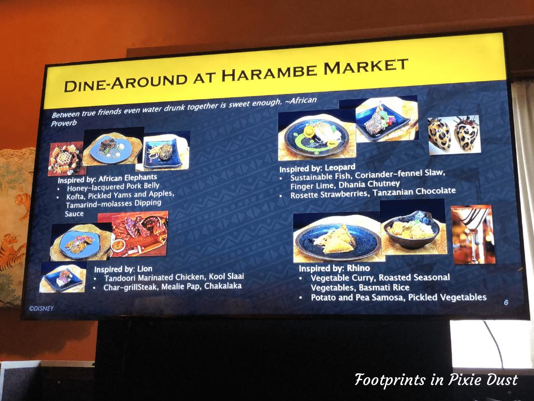 Protect the Pride ~ Circle of Flavors Harambe at Night menu