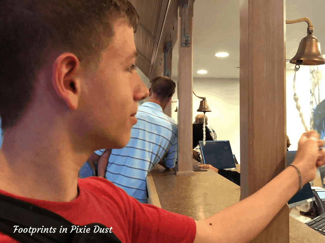 Disney's Vero Beach - First timer bell rining