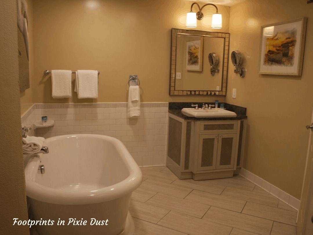 Disney's Vero Beach - One Bedroom Vila - One Half of the Bathroom