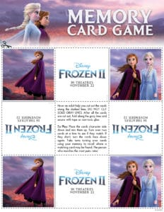 Frozen 2 Card Game