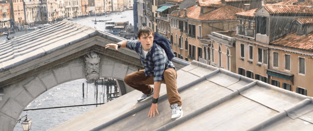 Tom Holland is Peter Parker, in Columbia Pictures' SPIDER-MAN:™ FAR FROM HOME.