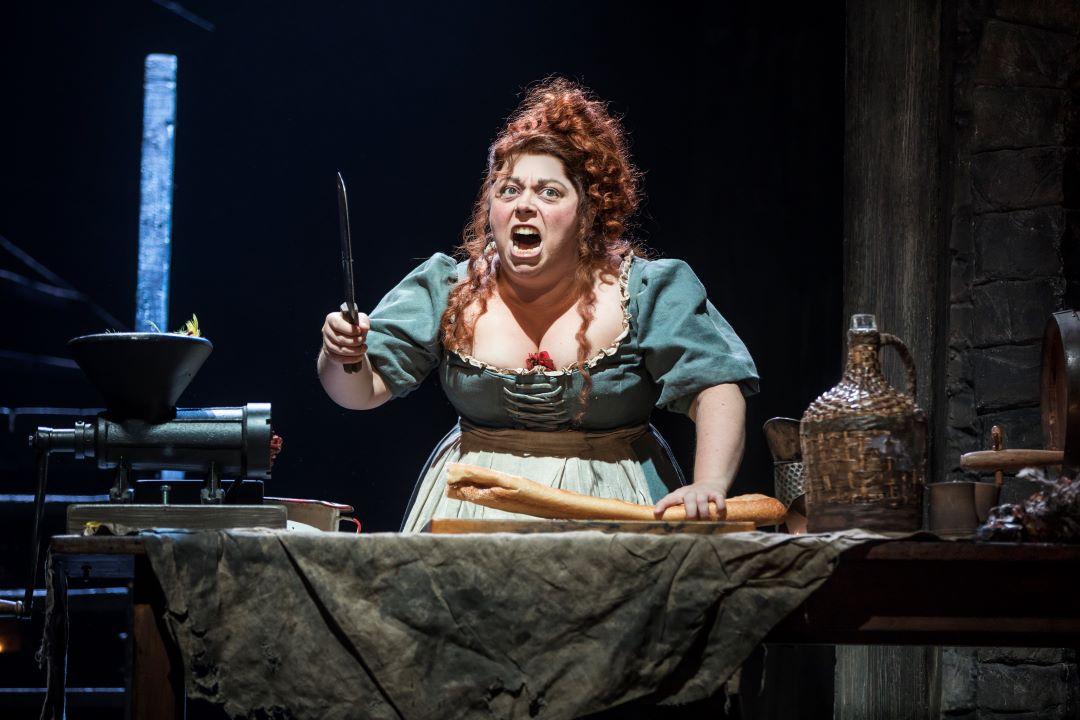 Allison Guinn as Madame Thenardier - Photo by Matthew Murphy