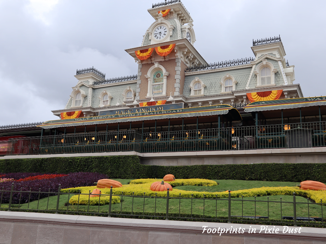 Enjoy Life, Disney and Halloween - Magic Kingdom Train Station Decked Out For Halloween