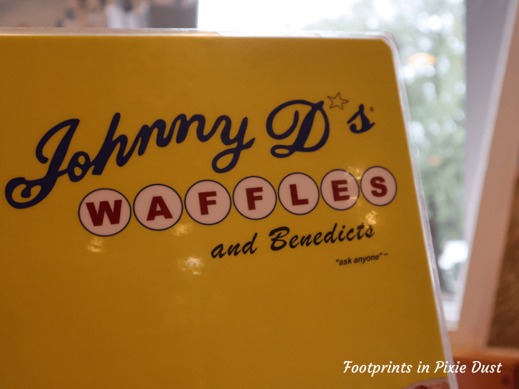 Johnny D's Waffles and Benedicts menu