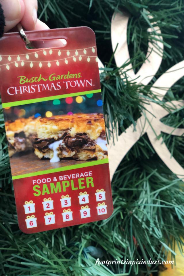 Busch Gardens Christmas Town Village - Sampler lanyard