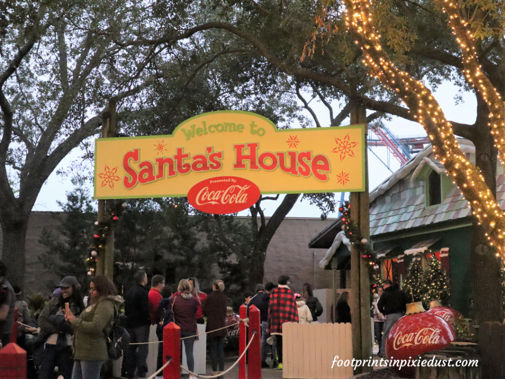 Busch Gardens Christmas Town Village - Santa's House Presented by Coca-Cola