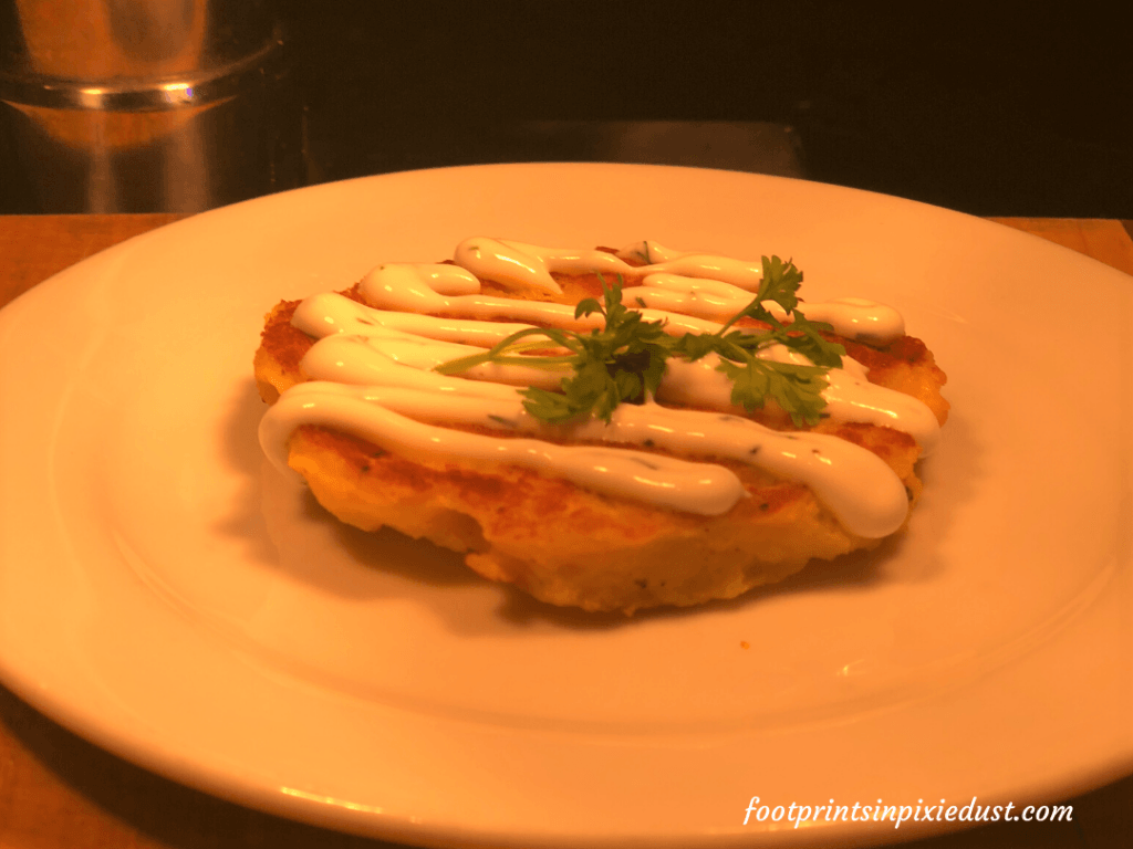 Epcot International Festival of the Holidays Preview - Potato Latkes with Sour Cream
