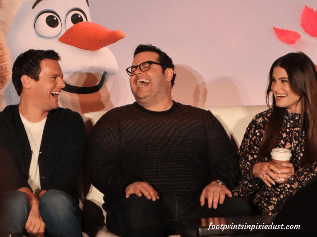 Frozen 2 Press Junket - Jonathan Groff, Josh Gad, Idina Mendzel