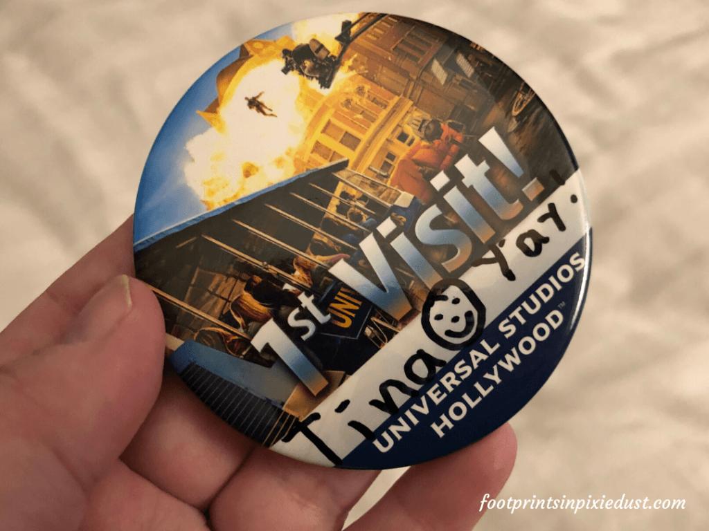 Universal Studios Hollywood - First Visit pin