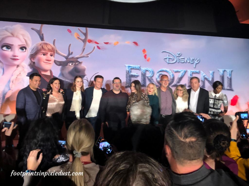 Frozen 2 Press Junket - final cast and filmmaker line-up