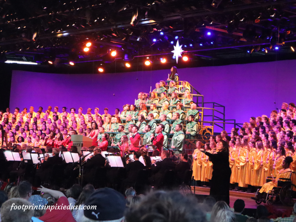 Epcot Holiday Cookie Stroll - Candlelight Processional with Ming-Na Wen