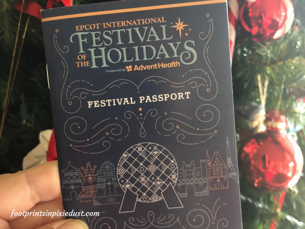 Epcot Holiday Cookie Stroll - Festival Passport