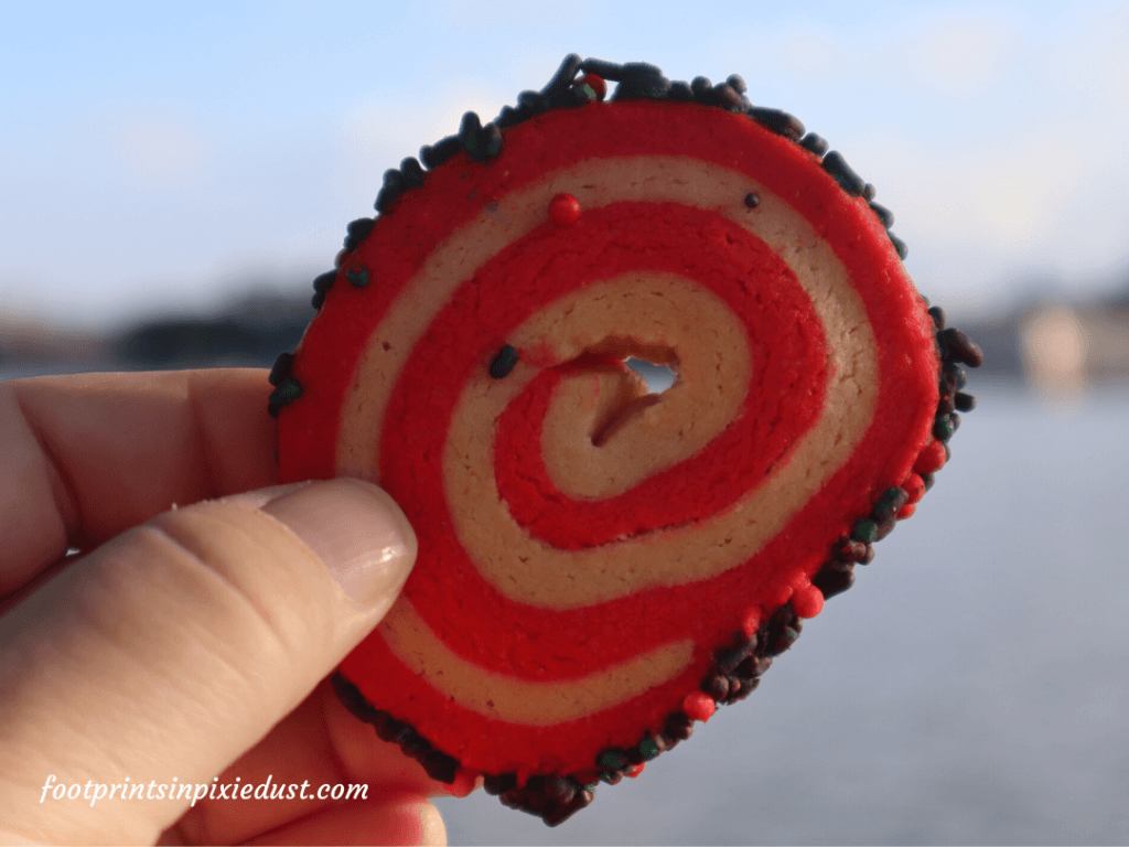 Epcot Holiday Cookie Stroll - Peppermint Pinwheel Cookie