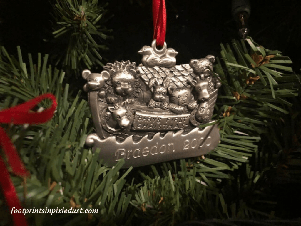 The Story Behind The Christmas Ornaments - Day Three, Baby's First Ornament