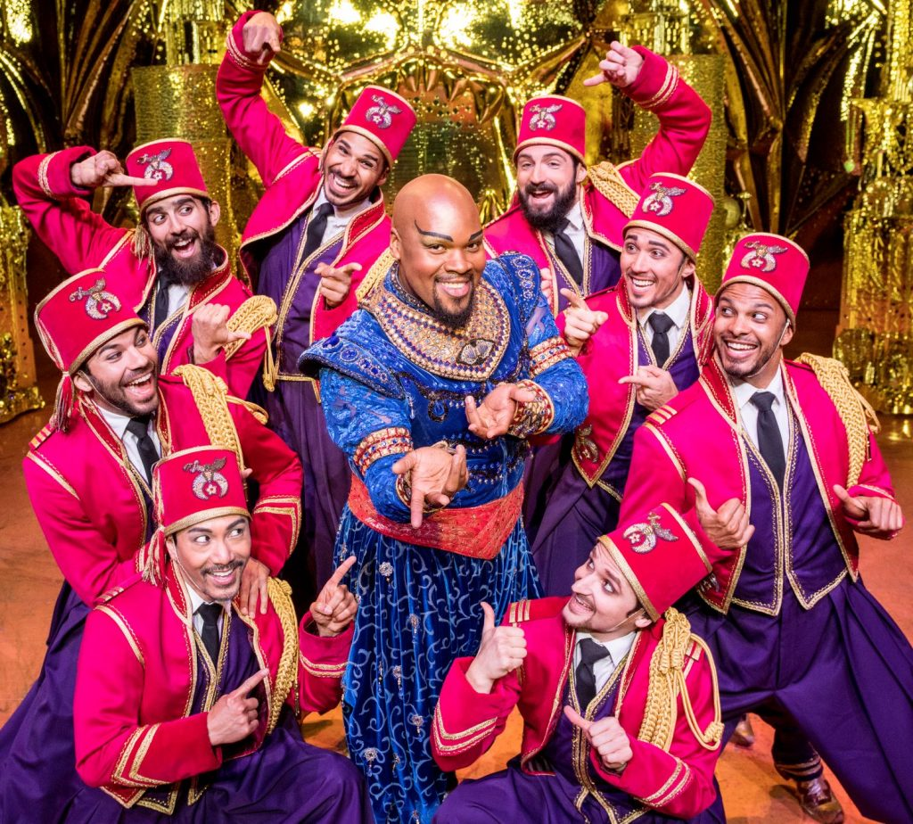 Friend Like Me 2. Michael James Scott (Genie) & Ensemble. Aladdin North American Tour. Photo by Deen van Meer